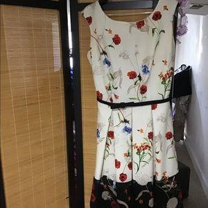 Julian Taylor Floral Mini Dress Size 12